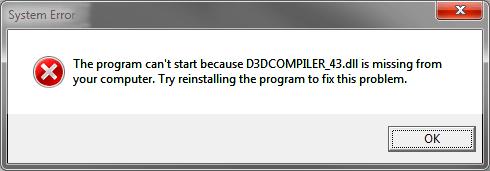 Как скачать d3dcompiler_43. Dll — простой способ.
