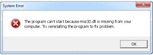 Как установить программу mss32.dll